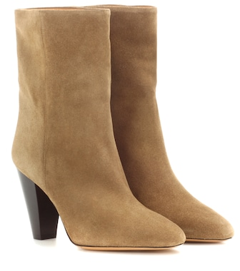 Isabel Marant - Étoile Darilay suede ankle boots - mytheresa.com