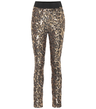 Dolce & Gabbana - Leopard sequined leggings - mytheresa.com