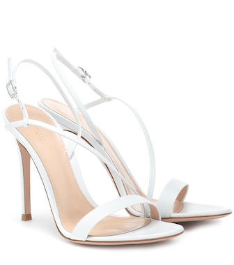 Gianvito Rossi - Manhattan leather sandals - mytheresa.com
