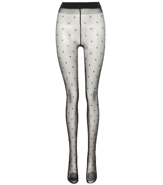 Saint Laurent - Dotted voile tights - mytheresa.com