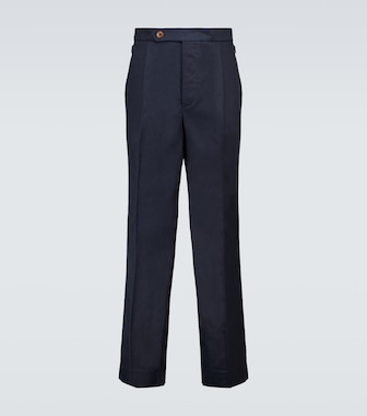 King and Tuckfield - Pleated TENCEL® and cotton pants - mytheresa.com