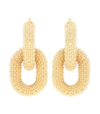 Bottega Veneta - 18kt gold-plated earrings - mytheresa.com
