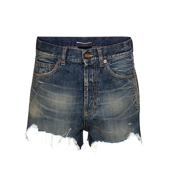 Saint Laurent - High-rise denim shorts - mytheresa.com
