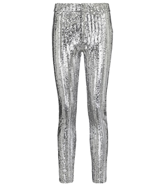 Isabel Marant - Todiz sequined high-rise skinny pants - mytheresa.com