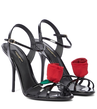 Dolce & Gabbana - Keira patent leather sandals - mytheresa.com