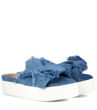 N°21 - Denim platform slip-on mules - mytheresa.com