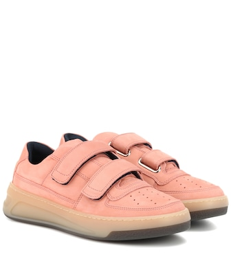 Acne Studios - Steffey nubuck leather sneakers - mytheresa.com
