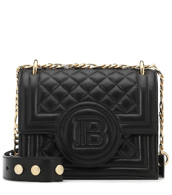 Balmain - B-Bag 21 quilted leather shoulder bag - mytheresa.com
