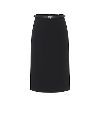 Salvatore Ferragamo - Stretch-cady midi skirt - mytheresa.com