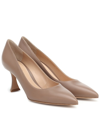 Gianvito Rossi - Triangle 70 leather pumps - mytheresa.com