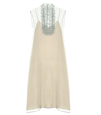 Prada - Silk midi dress - mytheresa.com