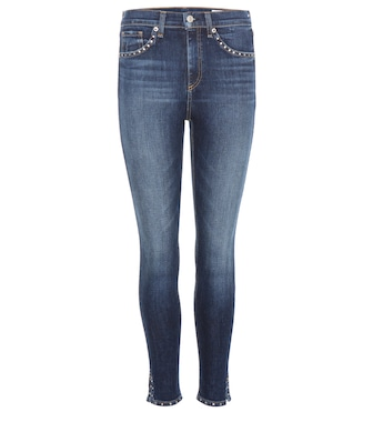 Rag & Bone - 10 Inch Capri With Slit embellished jeans - mytheresa.com
