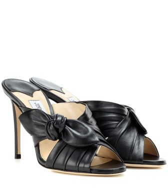 Jimmy Choo - Keely 100 leather sandals - mytheresa.com