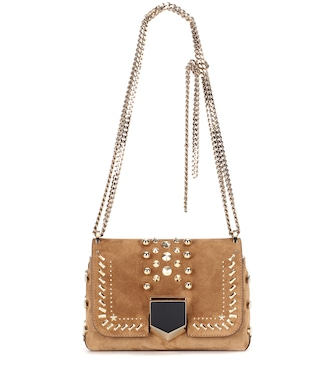 Jimmy Choo - Lockett Petite suede shoulder bag - mytheresa.com