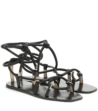 Jimmy Choo - Aziza Flat leather sandals - mytheresa.com