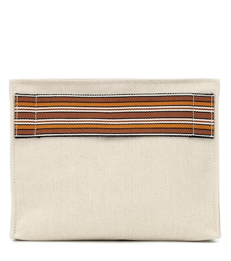 Loro Piana - The Suitcase Stripe canvas pouch - mytheresa.com