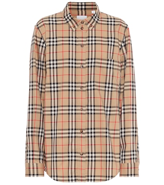 Burberry - Vintage Check stretch-cotton shirt - mytheresa.com