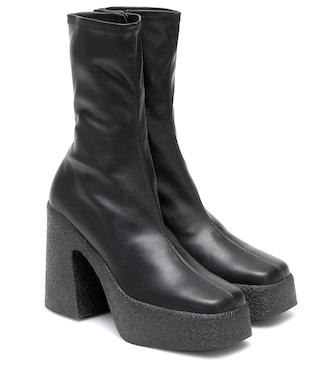 Stella McCartney - Faux-leather platform ankle boots - mytheresa.com