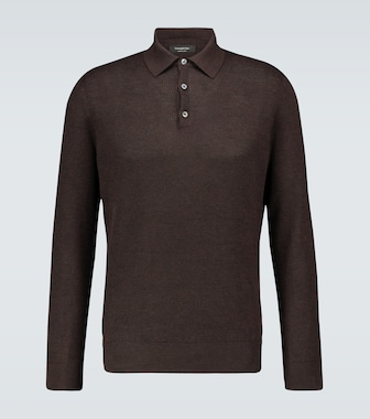 Ermenegildo Zegna - Cashmere and silk polo shirt - mytheresa.com