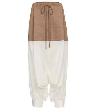 Loewe - Drawstring cuffed wool-blend pants - mytheresa.com