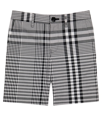 Burberry Kids - Checked cotton poplin shorts - mytheresa.com