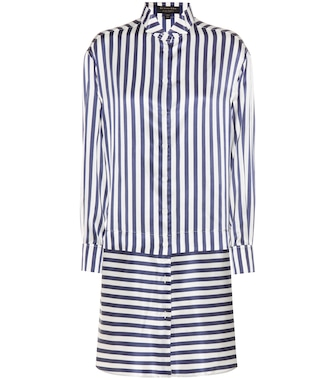 Burberry - Silk and cotton shirt dress - mytheresa.com