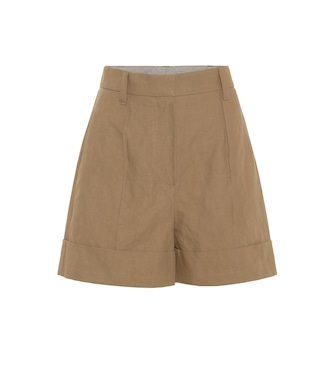 Brunello Cucinelli - High-rise stretch cotton shorts - mytheresa.com
