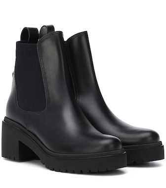 Moncler - Vera leather ankle boots - mytheresa.com
