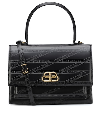 Balenciaga - Sharp M leather shoulder bag - mytheresa.com