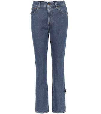 Off-White - High-rise slim fit jeans - mytheresa.com