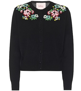 Marc Jacobs - Embroidered wool-blend cardigan - mytheresa.com