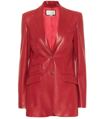 Gucci - Leather blazer - mytheresa.com