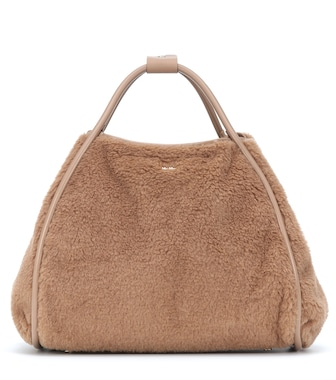 Max Mara - Marin Large camel wool and silk tote - mytheresa.com