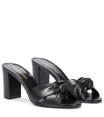 Saint Laurent - Bianca 75 leather sandals - mytheresa.com