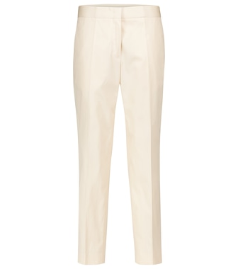 Jil Sander - High-rise straight cotton pants - mytheresa.com