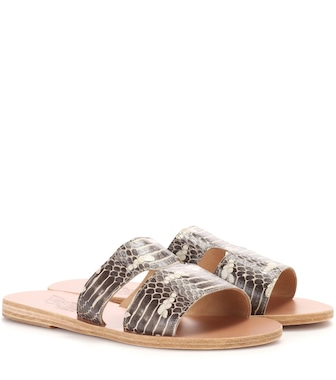 Ancient Greek Sandals - Apteros snakeskin sandals - mytheresa.com