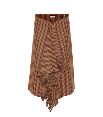 Balenciaga - Houndstooth wool-blend skirt - mytheresa.com