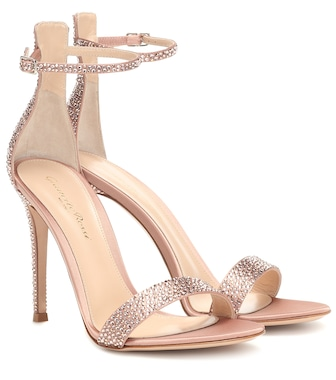 Gianvito Rossi - Glam crystal-embellished sandals - mytheresa.com