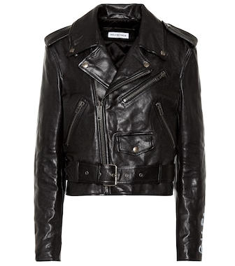 Balenciaga - Leather biker jacket - mytheresa.com