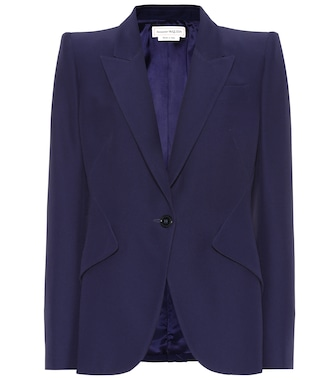 Alexander McQueen - Single-breasted crêpe blazer - mytheresa.com