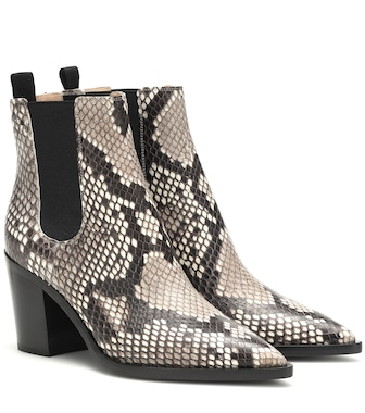 Gianvito Rossi - Romney python leather ankle boots - mytheresa.com