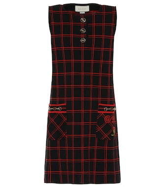 Gucci - Plaid wool minidress - mytheresa.com
