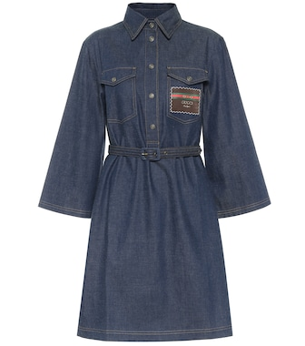 Gucci - Denim shirt dress - mytheresa.com
