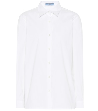 Prada - Cotton-blend shirt - mytheresa.com