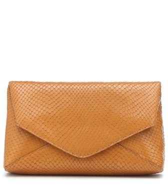 Dries Van Noten - Embossed leather clutch - mytheresa.com