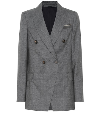 Brunello Cucinelli - Double-breasted blazer - mytheresa.com