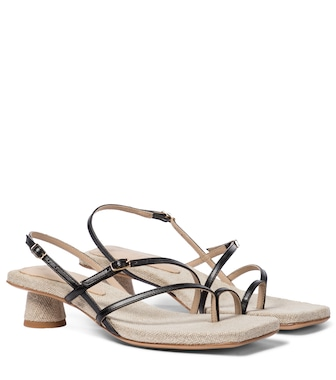 Jacquemus - Les Sandales Basgia leather sandals - mytheresa.com