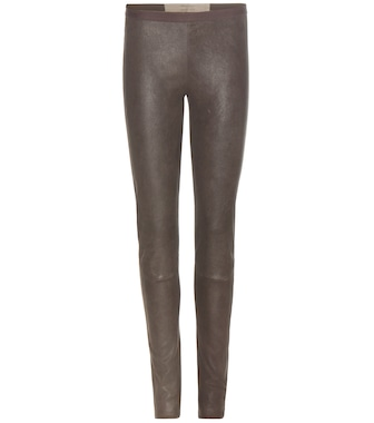 Rick Owens - New Simple leather leggings - mytheresa.com