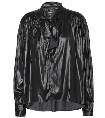 Isabel Marant - Demmo satin top - mytheresa.com