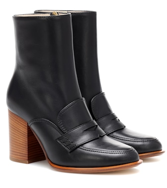 Loewe - Leather loafer ankle boots - mytheresa.com